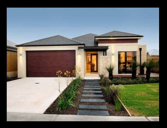 Front Elevation Landscape Ideas : Simple modern front yard layout would change choice of
