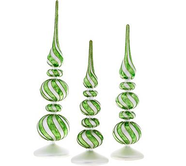 Whimsical Mercury Glass Finials