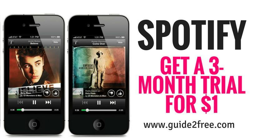 Spotify 90 day free trial