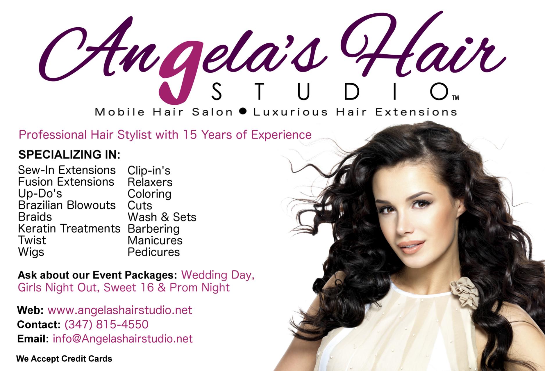 Angela's Hair Studio flyer! | Angela's Hair Studio: Mobile Hair ...