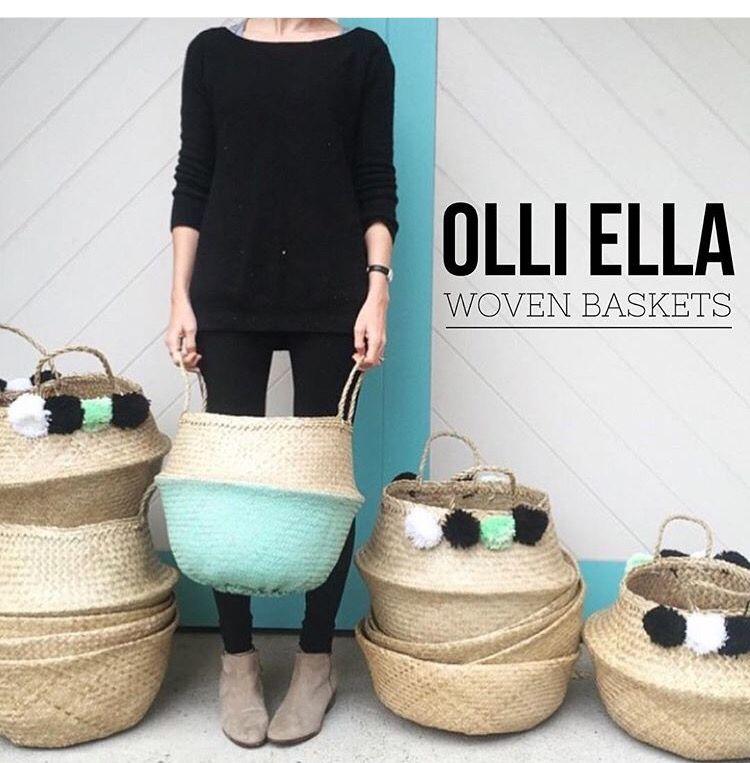 Woven belly basket
