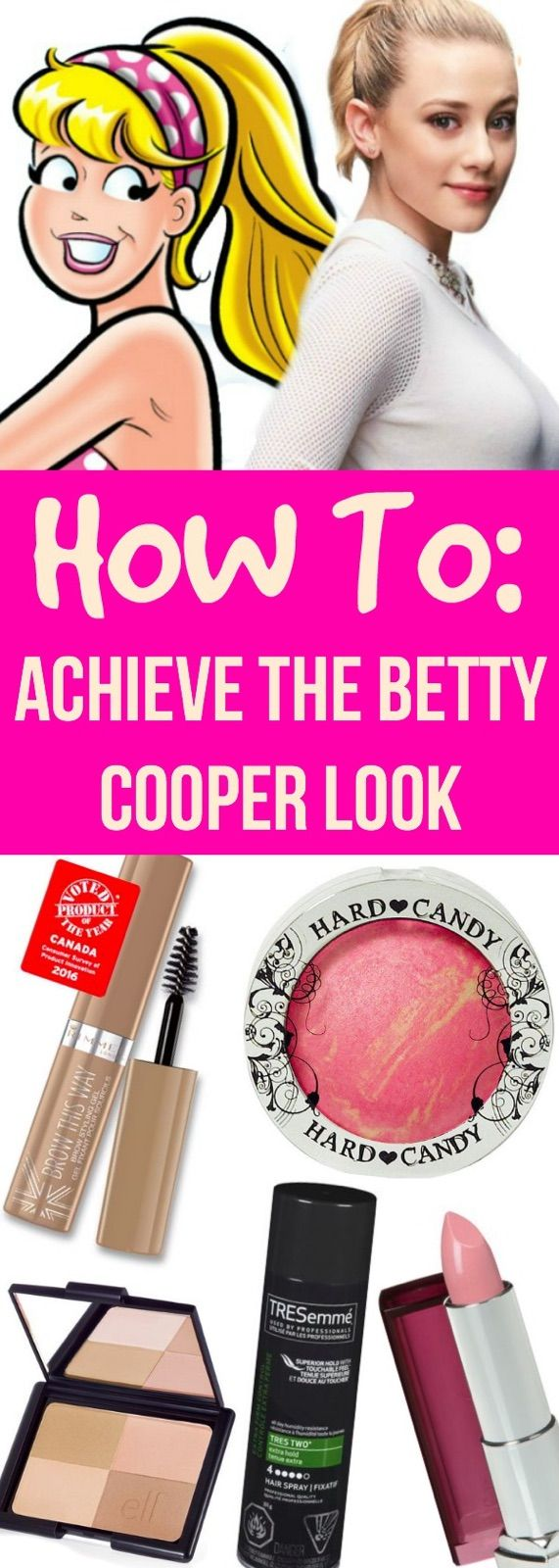 The Riverdale Look Betty Cooper Edition Step By Step Tutorial On
