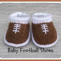 Knit Baby Football Shoes - via @Craftsy