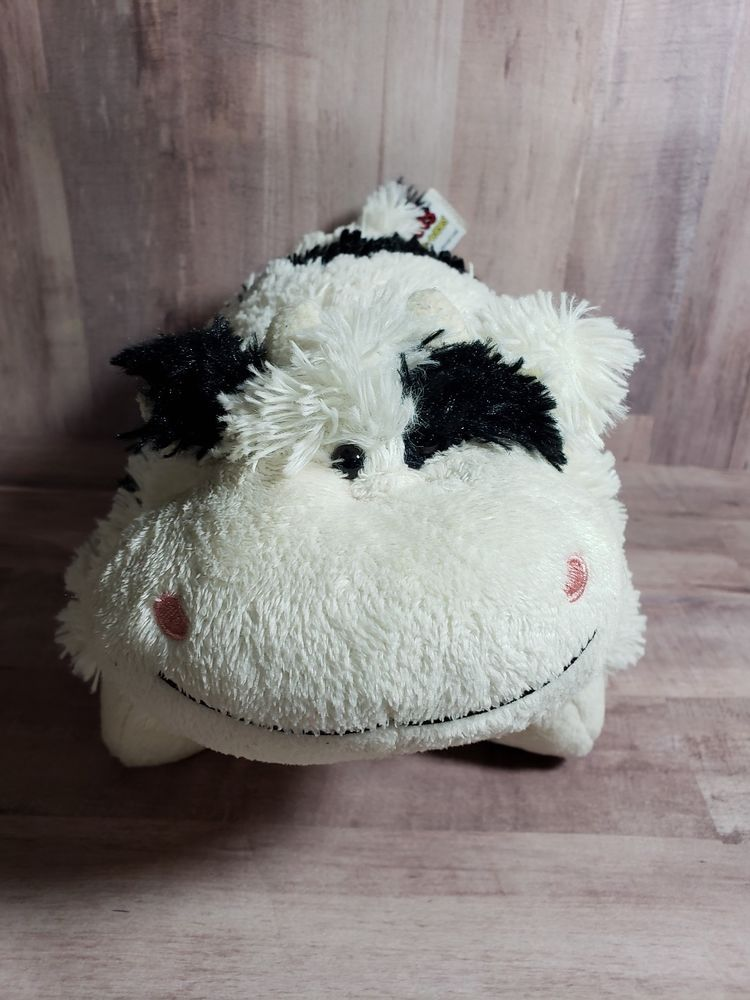 White And Black Cow Pillow Pet Pee Wee Plush Good Used Condition