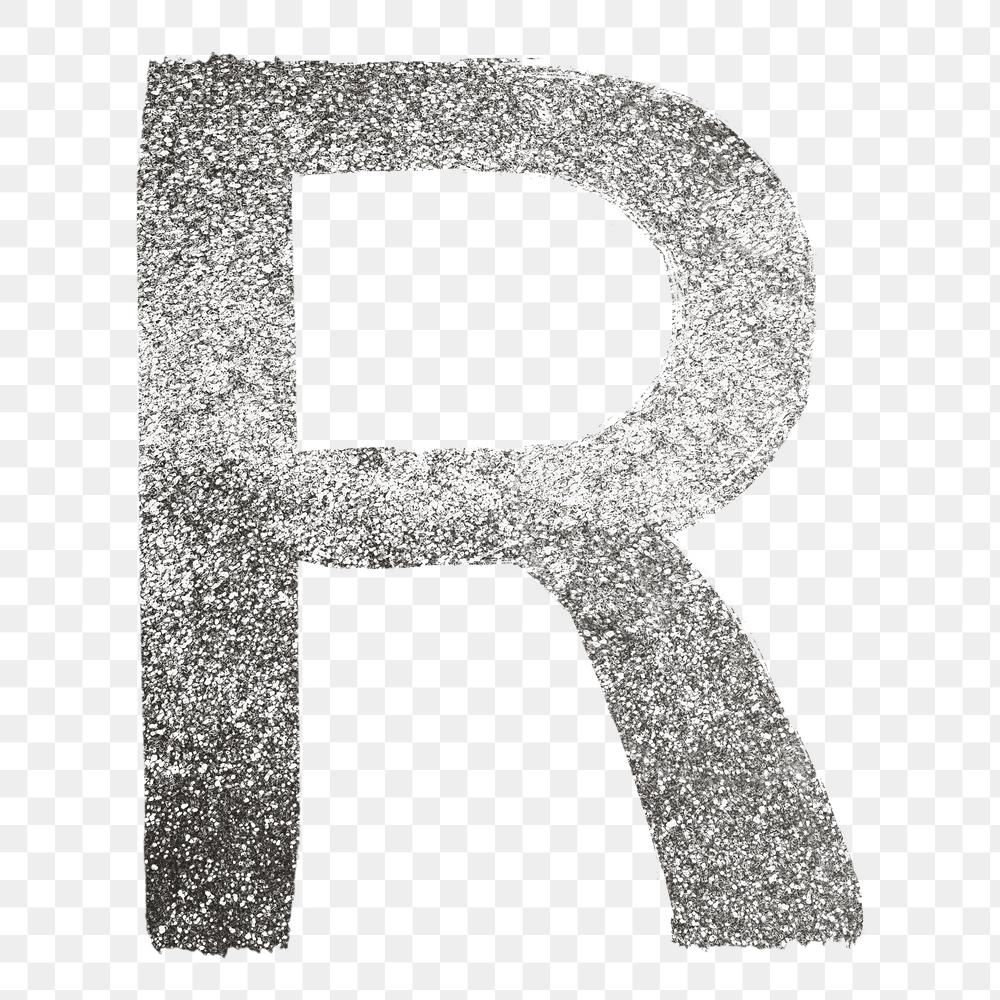 Letter R Png Silver Glitter Brushed Typography Free Image By Rawpixel Com Hein Typography Silver Glitter Letter R
