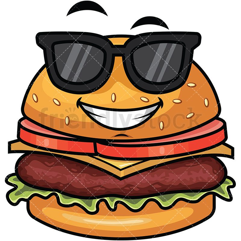 Cool Hamburger Wearing Sunglasses Emoji Dessin Photographie