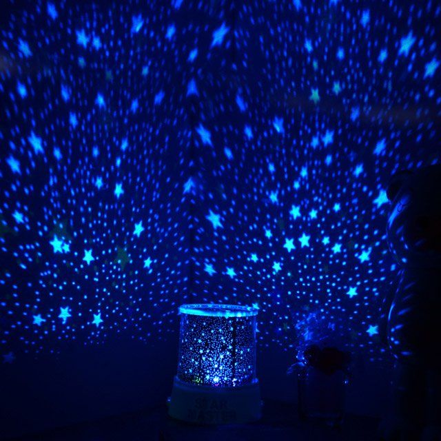 This Easy Too Use Led Lamp Projects A Blue Light In Four Different Patterns To Create A Magical Feel Shell Color Star Projector Blue Aesthetic Blue Wallpapers
