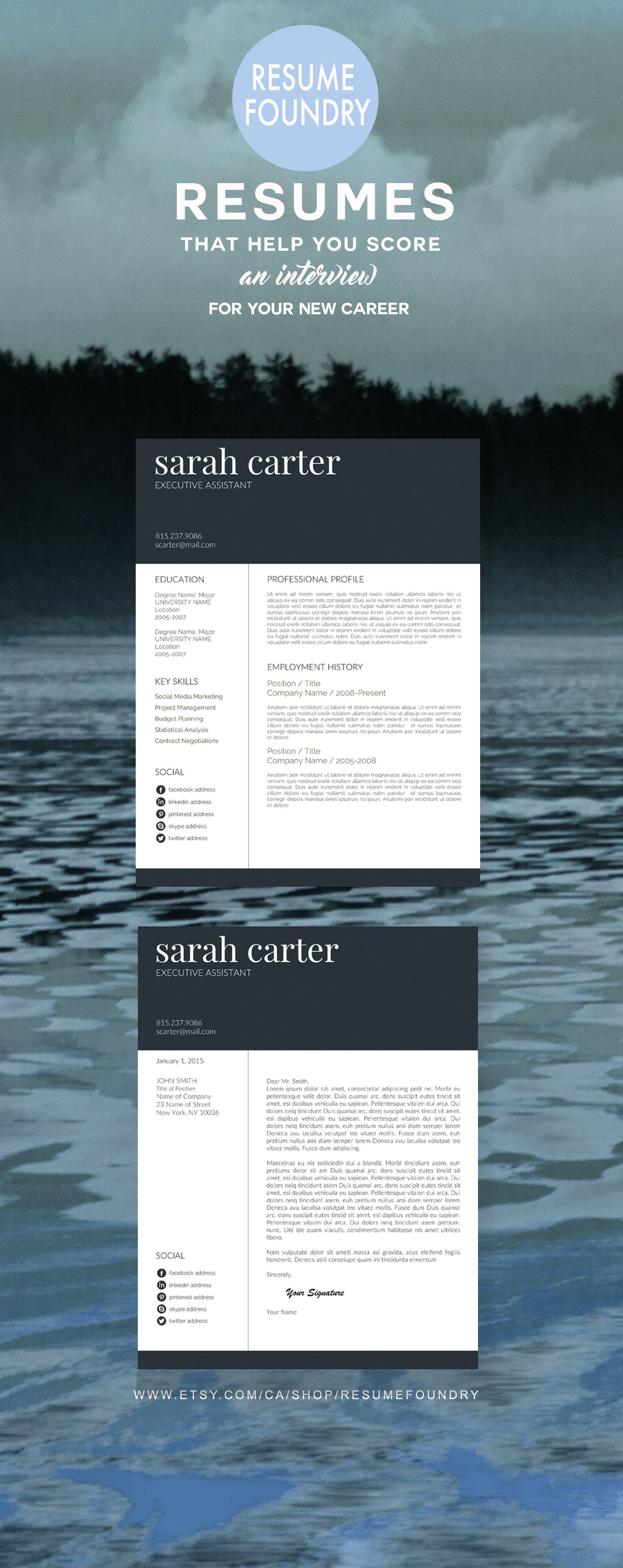 Strong, modern and bold - if you want to stand out, this resume will ...