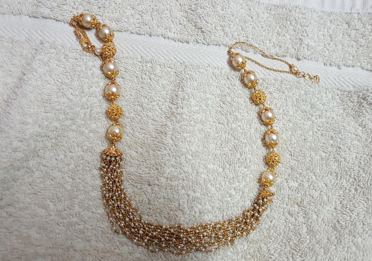 5aa2a9f4e2366 19 GMs pearl mala net gold *PREMRAJ SHANTILAL JAIN JEWELLERS ...