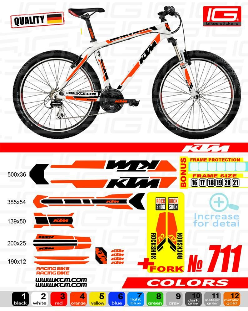 Ktm Bike Frame Stickers Bicycle Stickers Stickers On The Frame And