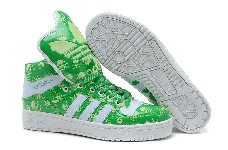 soldes 2015 Adidas Chaussures lumineuses modèles de couples vert