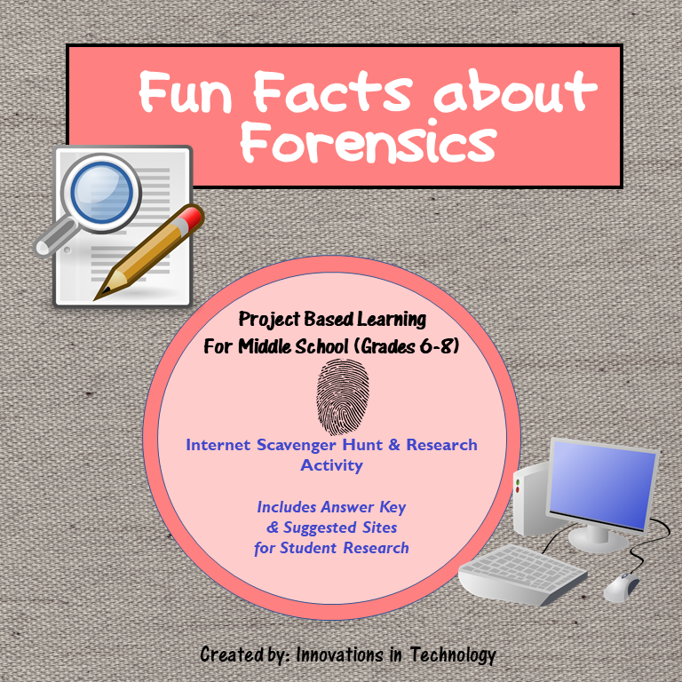 Fun Facts about Forensics WebQuest / Internet Scavenger Hunt. This ...