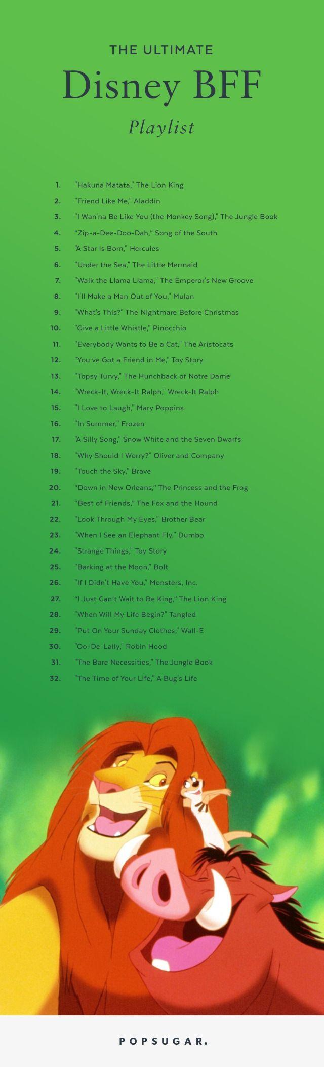 the ultimate disney bff playlist   disney princesses in pop culture