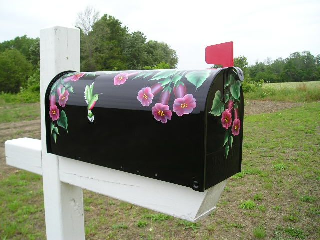 hand painted mailbox designs. Google Image Result For Http://www.bicklanecreations.com/Blkmbhibiscus_op_800x600.jpg | You\u0027ve Got Mail! Pinterest Painted Mailboxes, Images And Hand Mailbox Designs L