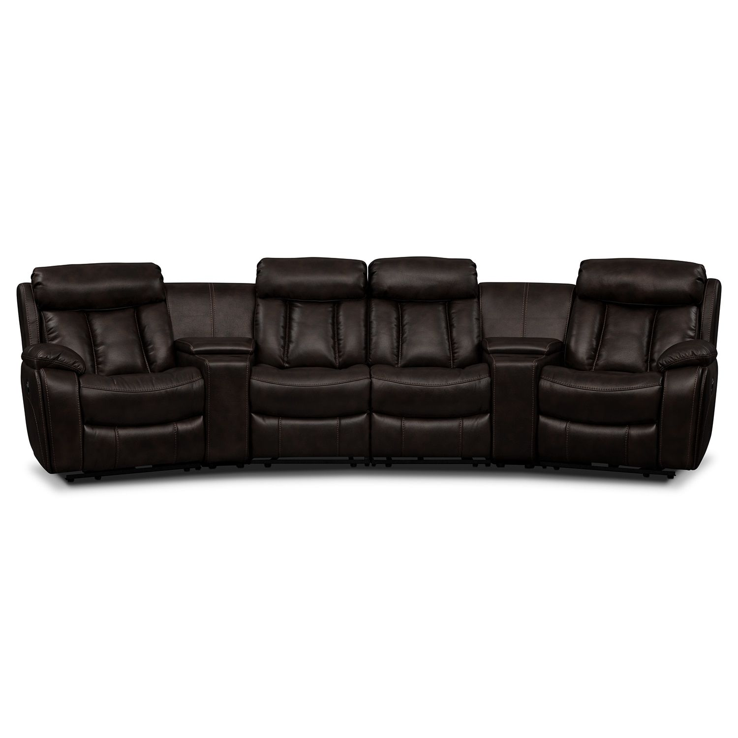 Diablo 6 Piece Power Reclining Sectional With 2 Armless Recliners