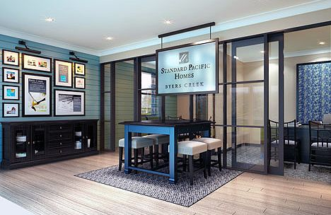 Interior Design, Graphics, And Custom Furniture For Standard Pacific Homes  Now Cal Atlantic Homes