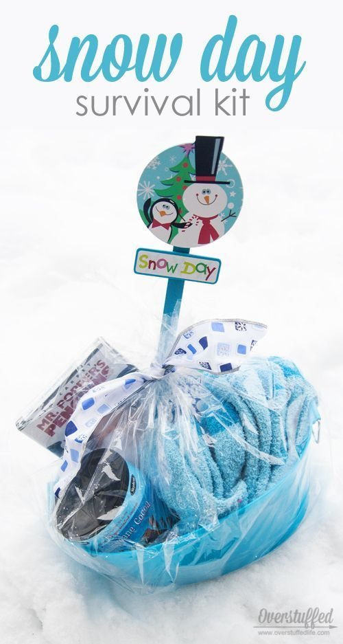 6f90f1296a5 Make a snow day survival kit for your kids this winter--you never know when  a snow day will hit. Be ready!