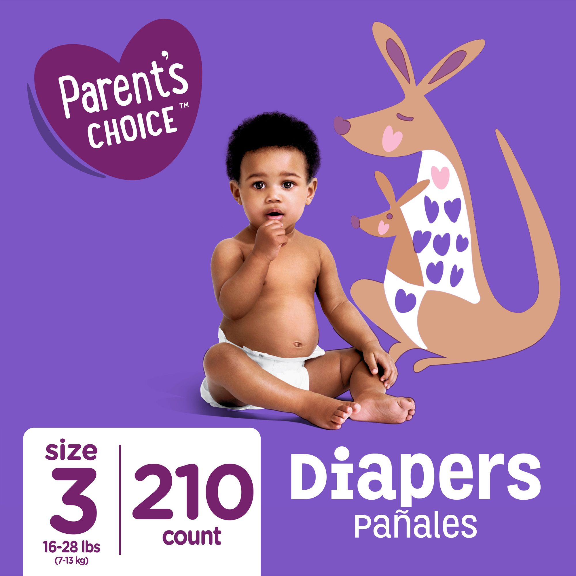 Free 2 Day Shipping Buy Parent S Choice Diapers Size 3 210 Diapers At Walmart Com Parents Choice Diapers Baby Diapers Sizes Parents Choice