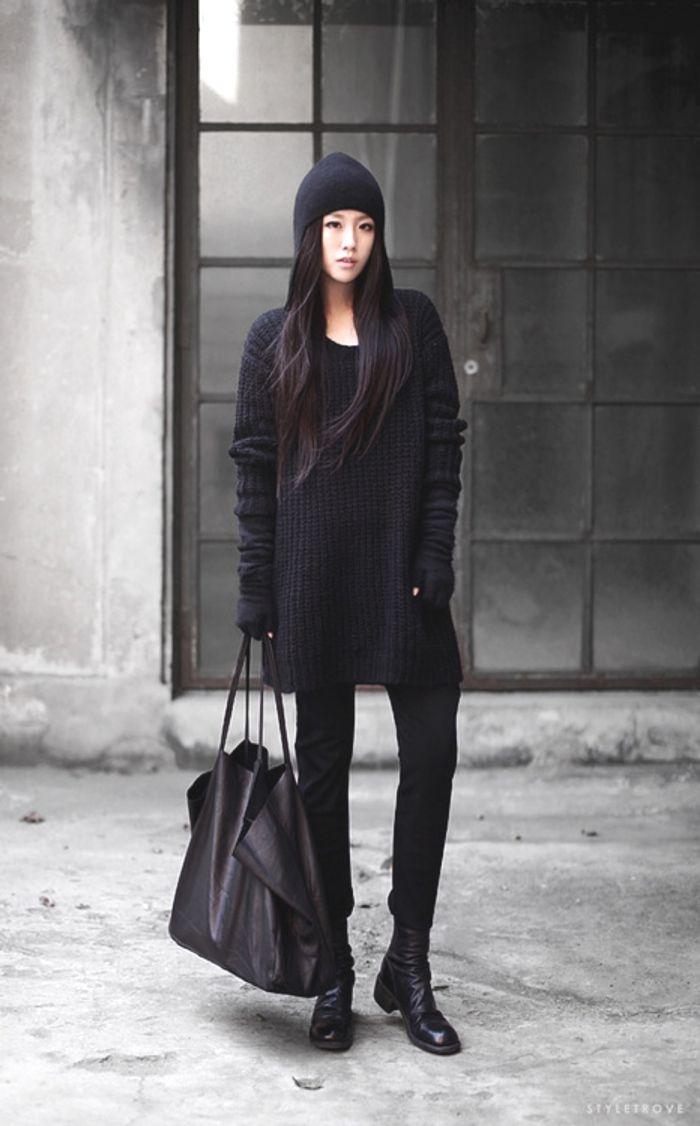 Inspiring Street Style   Street styles, Street and Total black