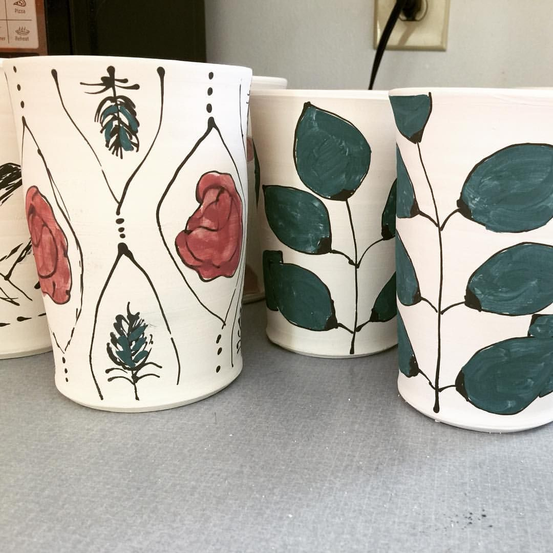 i just finished decorating some soon to be travel mugs i ll get