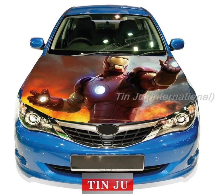 High Quality Car Hood Sticker Wrap Full Color Print Vinyl Decal - Custom vinyl decals for car hoodssoldier full color graphics adhesive vinyl sticker fit any car