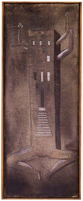 Louise Bourgeois Femme Maison 1946 47 Painting