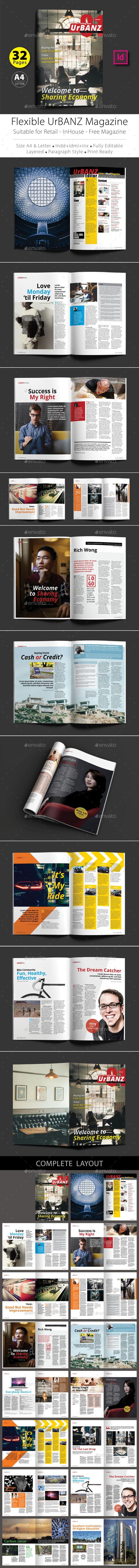 Flexible UrBANZ Magazine Template | Revistas