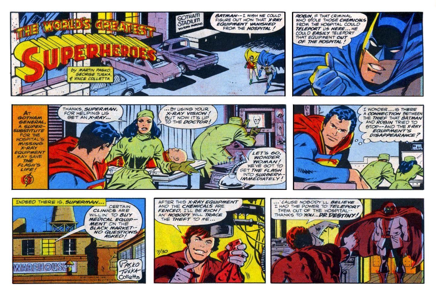 Super hero comic strip