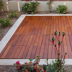 Interlocking Outdoor Flooring Over Concrete Deck