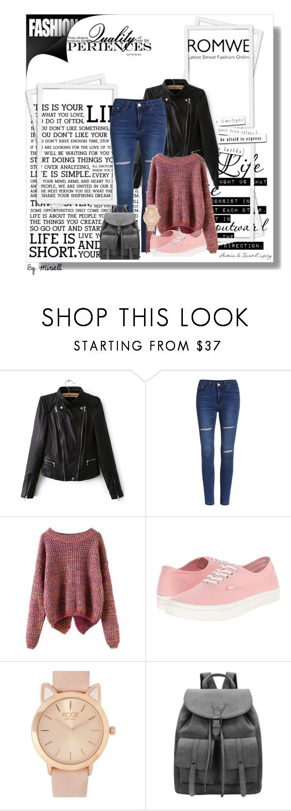 """""""Romwe 5"""" by zina1002 ❤ liked on Polyvore featuring Vans"""