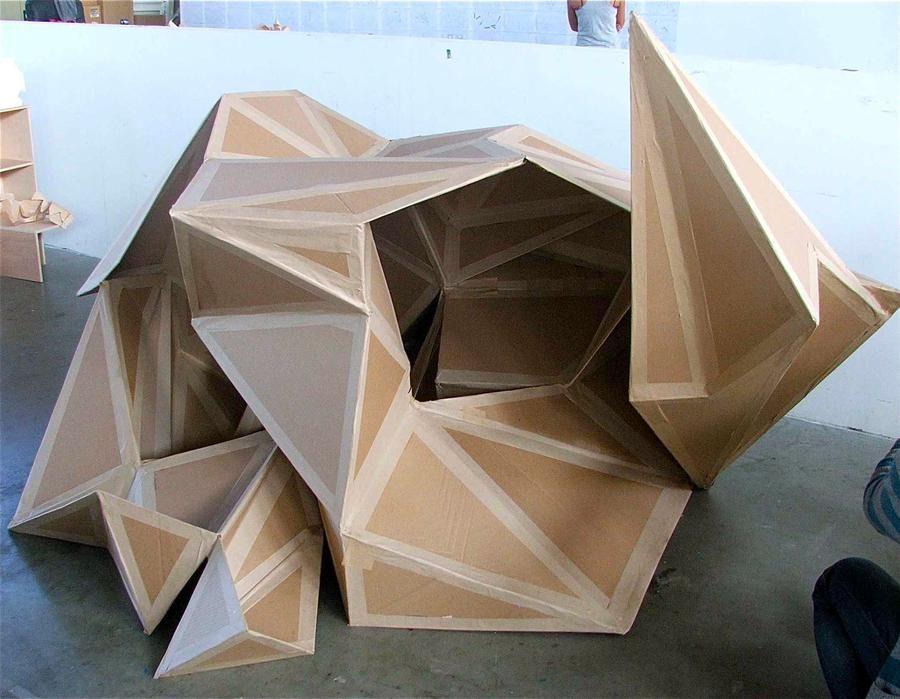 Photo of Cardboard Model by DaphneeArielle on DeviantArt