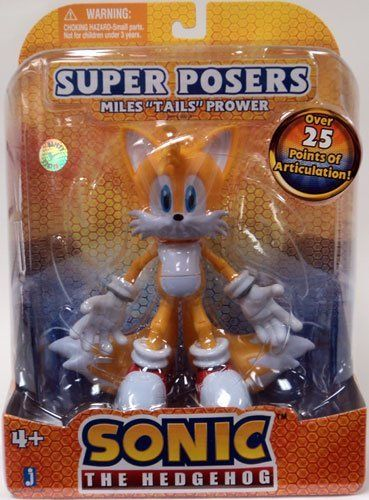 Sonic The Hedgehog 5 Inch Super Posers Action Figure Tails Over 25 Points Of Articulation By Jazwares 34 99 This Exclus Sonic Action Figures Sonic Birthday
