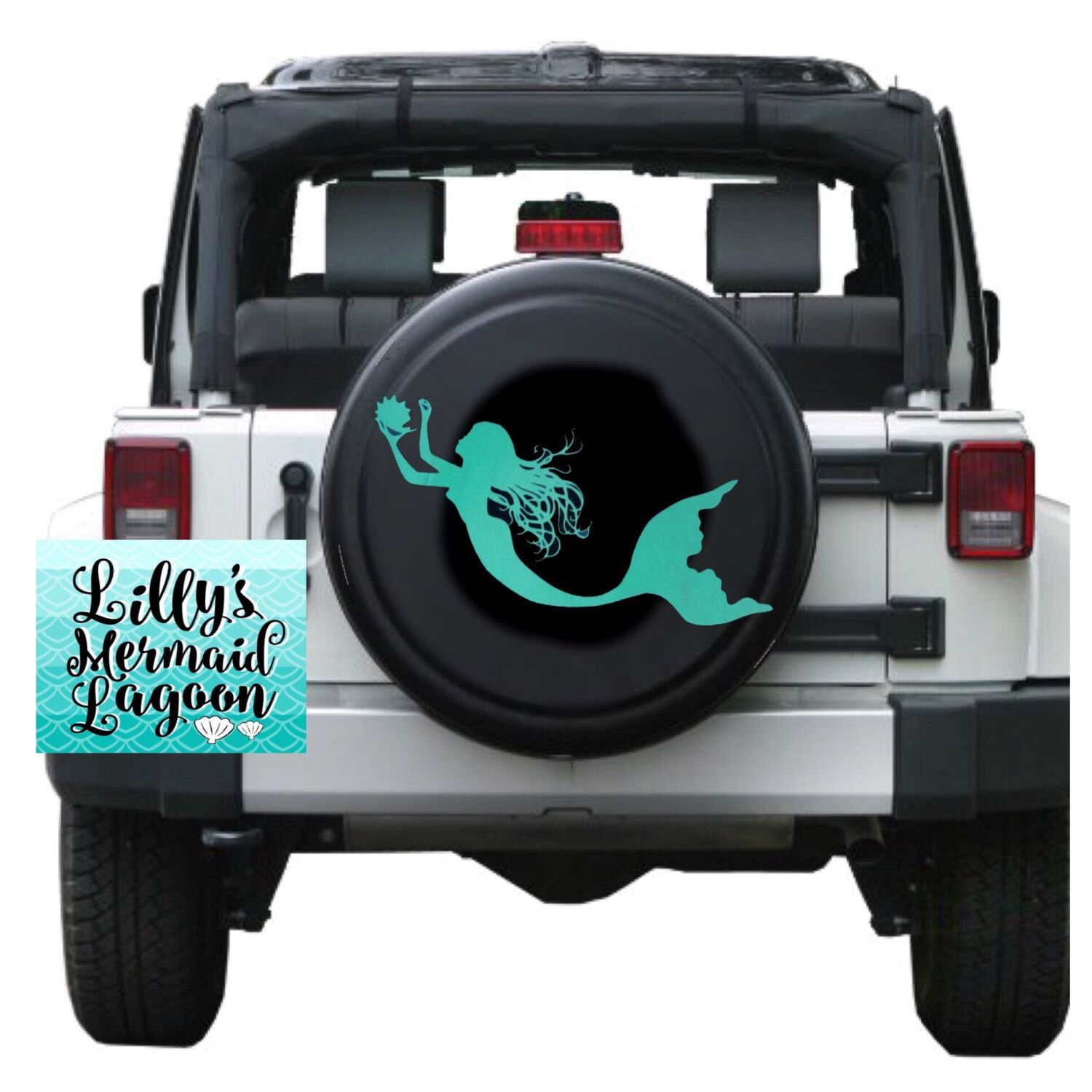 Mermaid Tire Cover Decal Mermaid Decal Tire Cover Mermaid Spare - Custom windo decals for jeepsjeep hood decals and stickers custom and replica jeep decals now