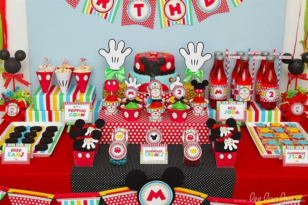 Hostess with the Mostess® - Mouse Boy Birthday Party Cruz turns 2 - mickey mouse boy birthday party ideas