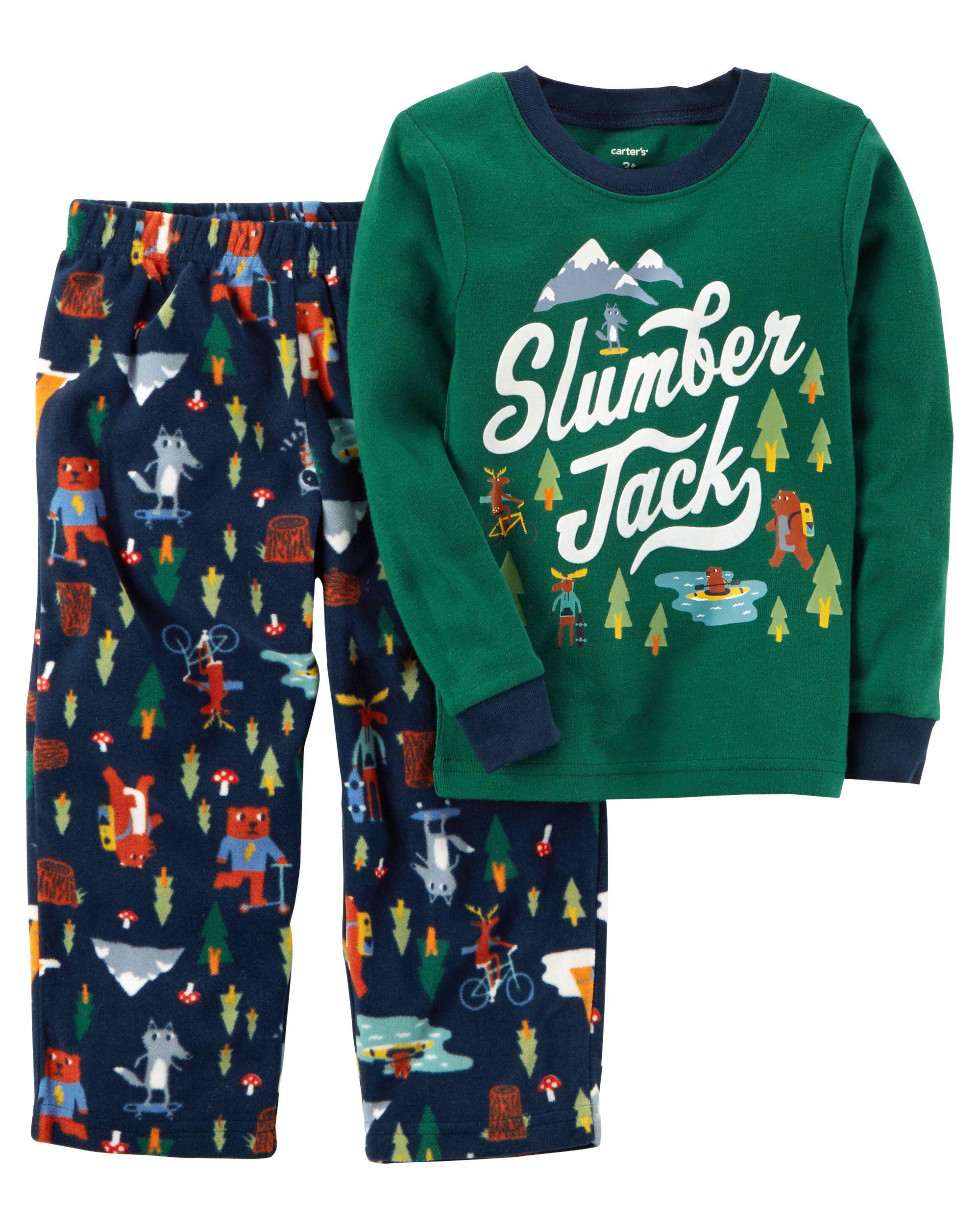 657040d1611c 2-Piece Slumber Jack Cotton   Fleece PJs