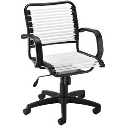 The Container Store White Flat Bungee Office Chair With Arms