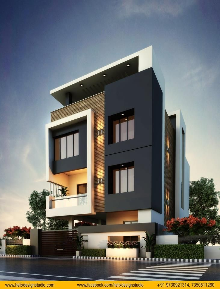 """House Front Design Small House Elevation Design Architectural House Plans: Pin By Devid Kurzekar On Exterior Elevation By Devid Kurzekar At """"Helix Design Studio"""