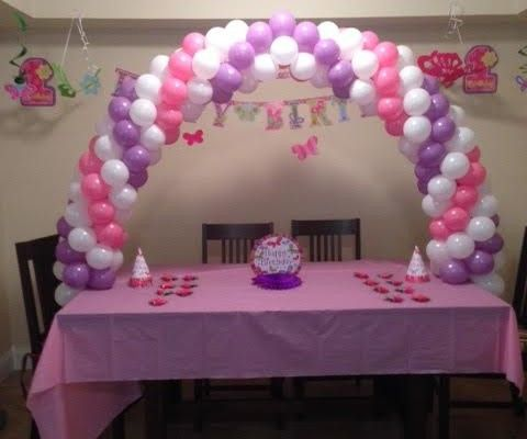 table arch balloons - Google Search