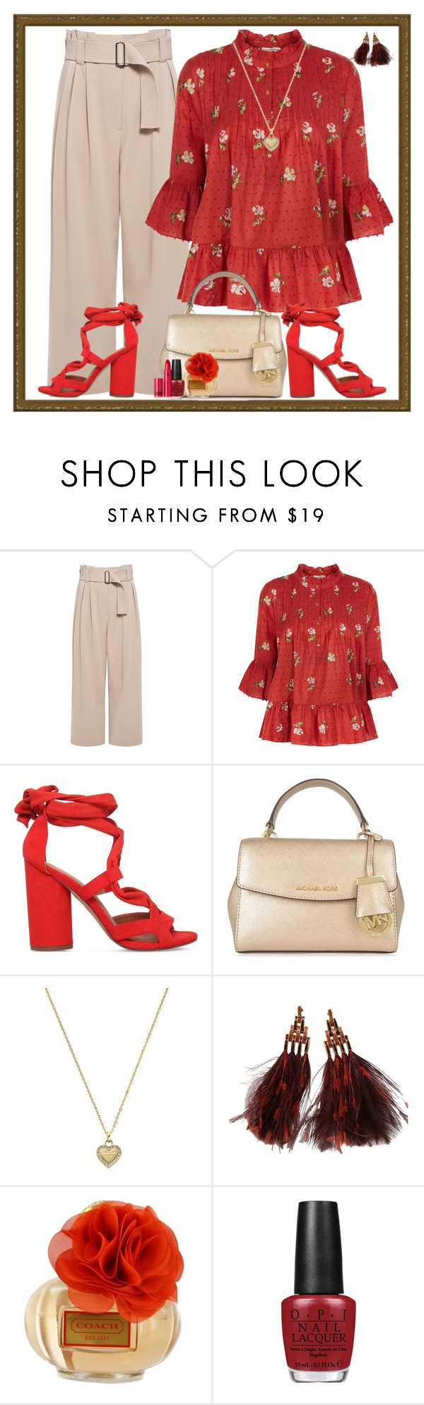 """""""Daytime Decadence"""" by winscotthk ❤ liked on Polyvore featuring A.L.C., Ulla Johnson, KG Kurt Geiger, MICHAEL Michael Kors, Michael Kors, Louis Vuitton, Coach, OPI and Lipstick Queen"""