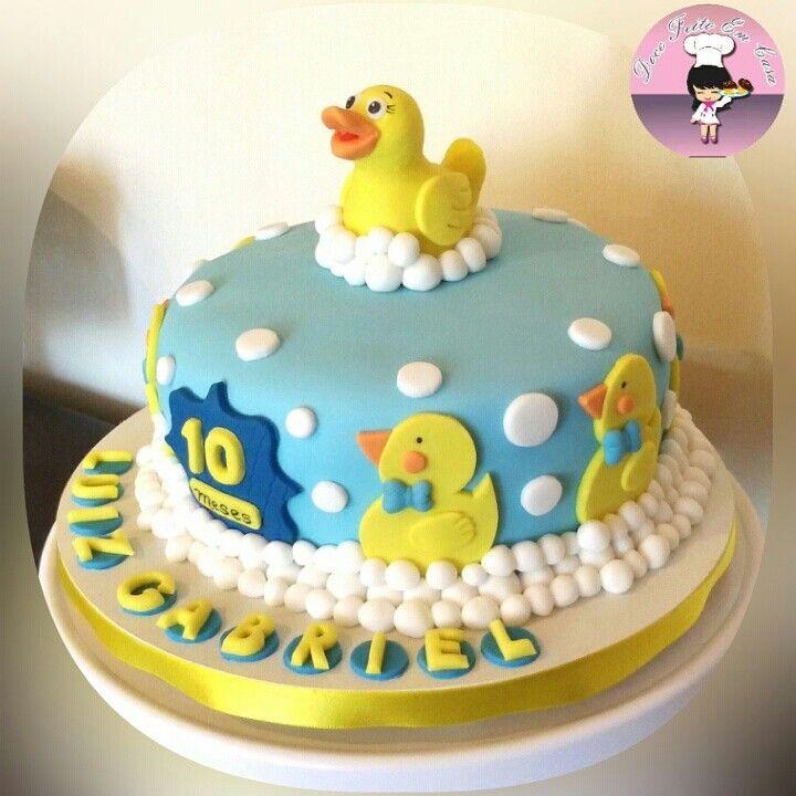 Conhecido Bolo patinho / bolo / cake / patinho amarelo / pato no banho  OM27