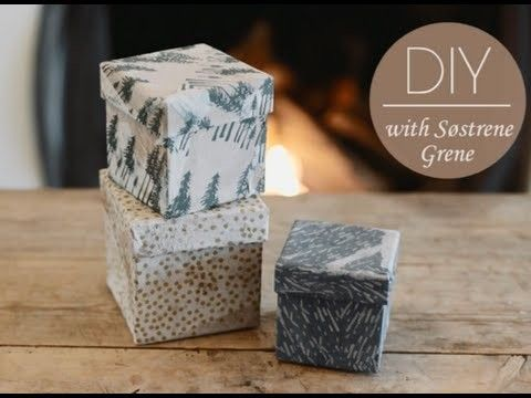 How To Decorate Boxes Diy How To Decorate Boxes With Glue And Napkinssøstrene Grene