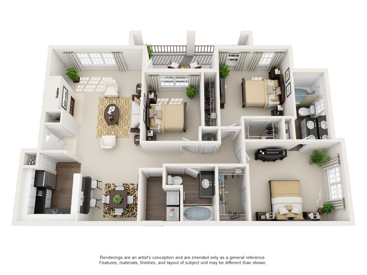 Can You Get An Apartment At 18 In Texas 1 2 3 Bedroom Apartments In Euless Tx Floor Plans Bedroom House Plans Bedroom Floor Plans