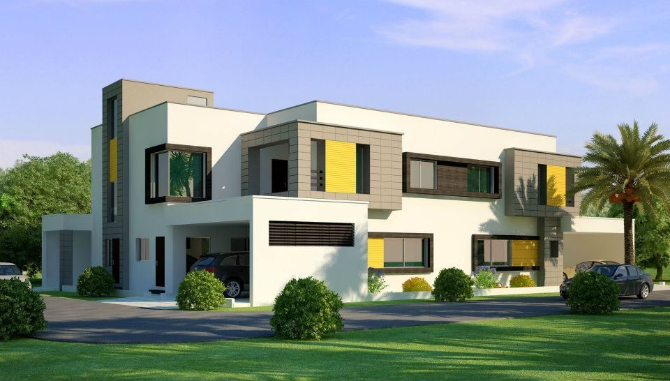 3d front beautiful home house in pakistan for New home designs pictures in pakistan