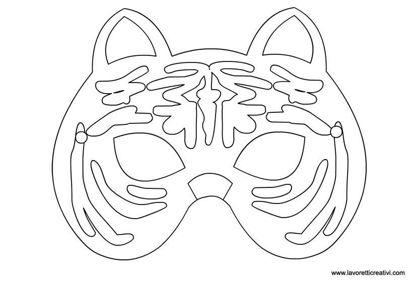 Maschere Di Carnevale Maschera Di Tigre Da Incollare Su