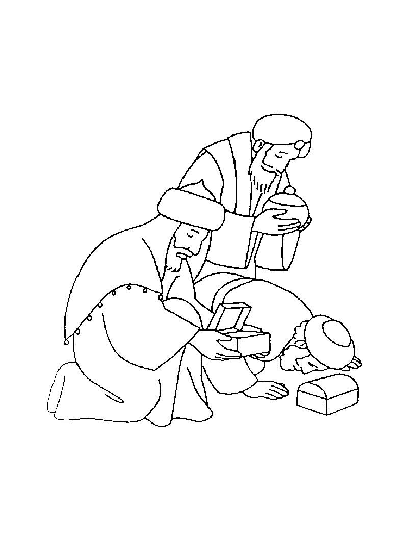 THREE WISE MEN coloring pages - Three Kings | Line work | Pinterest ...
