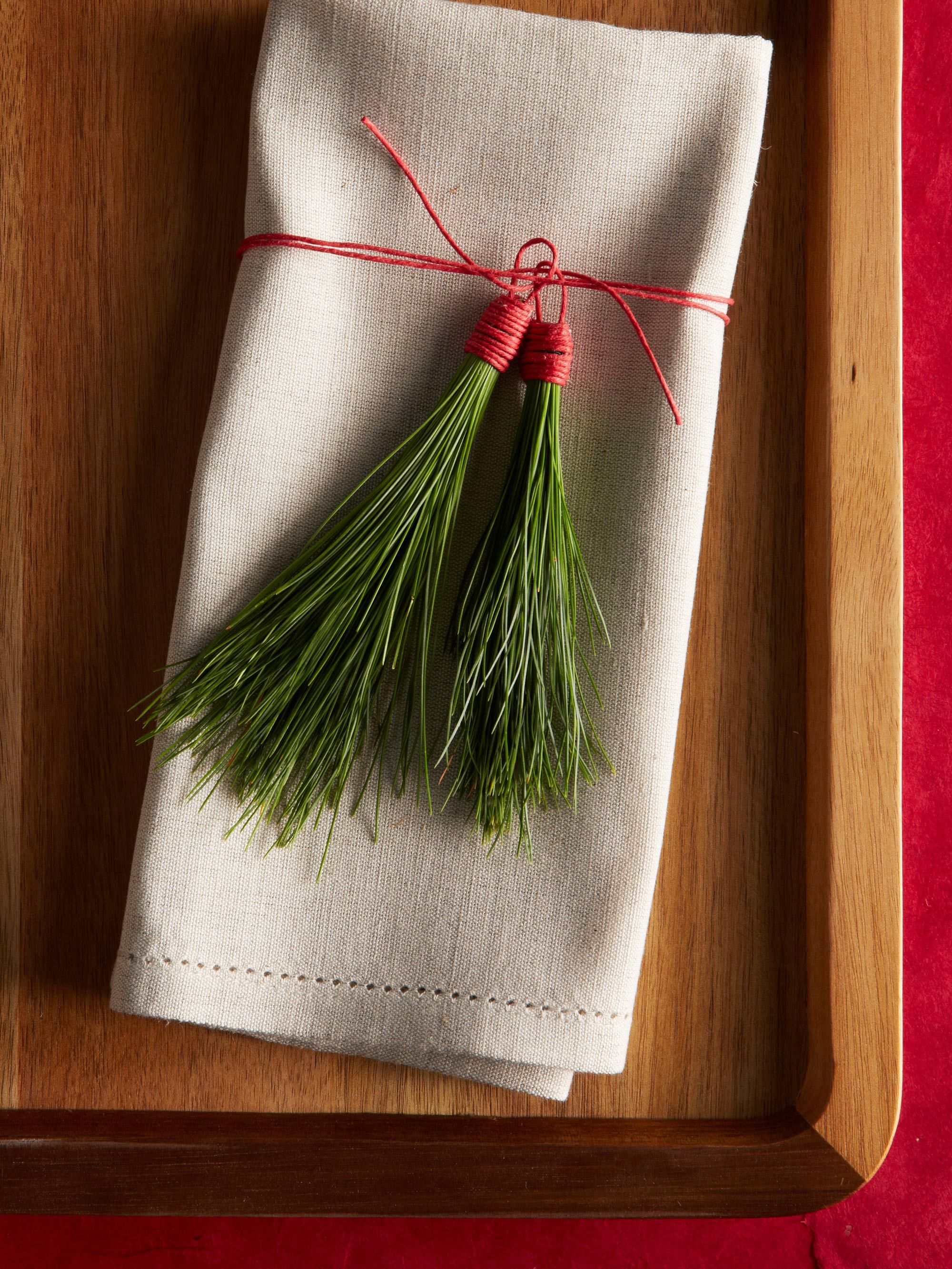 Linen napkins are a classic choice year-round. Make them ...