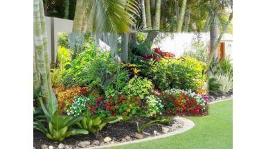 Designideen für tropische Gärten 110 -  Designideen für tropische Gärten 110  - #DesignIdeen #für #garten #tropische #tropischelandschaftsgestaltung