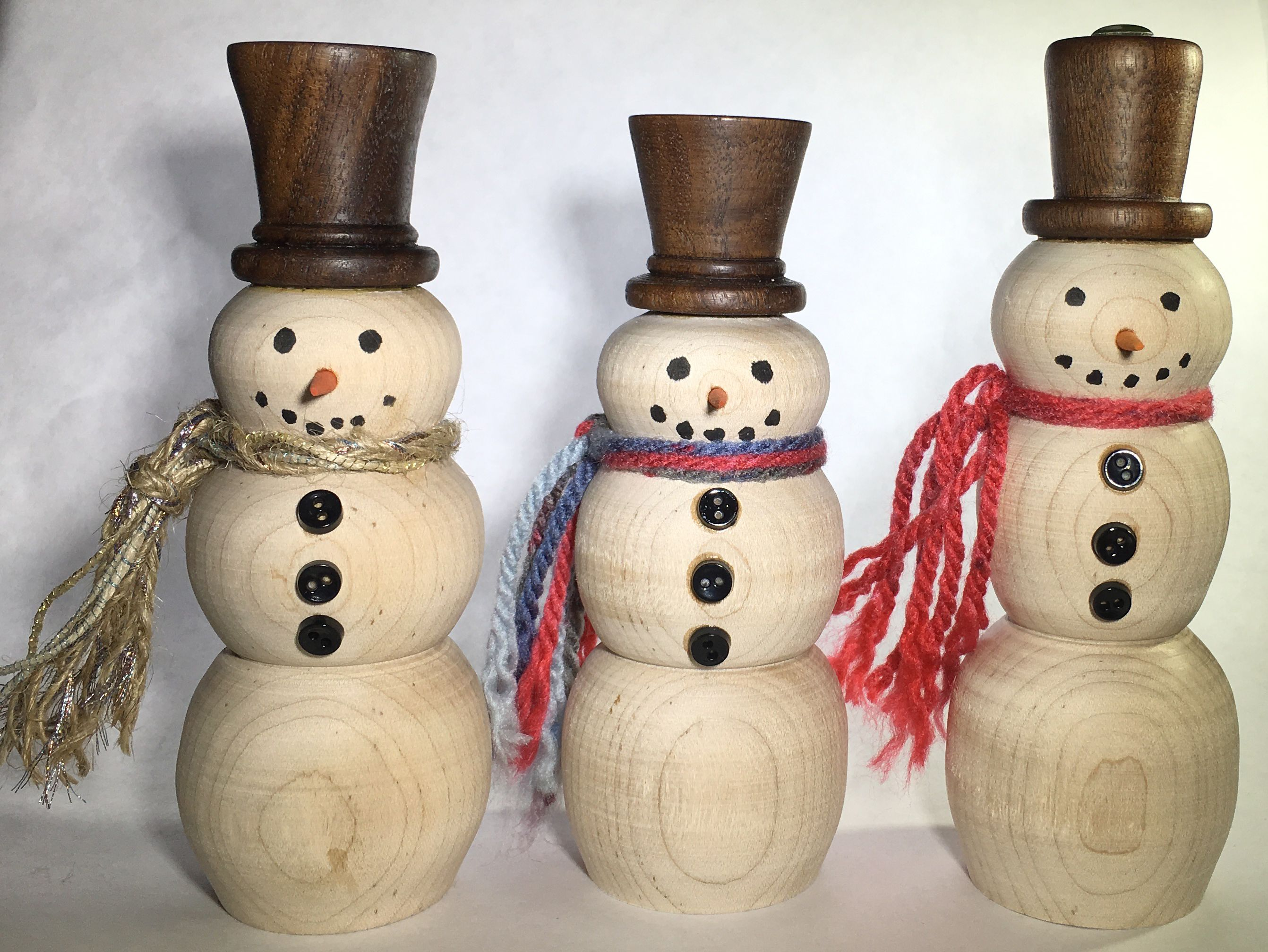 Wood Snowmen Sale Wood Snowman Snowman Christmas Decorations Wood Christmas Ornaments