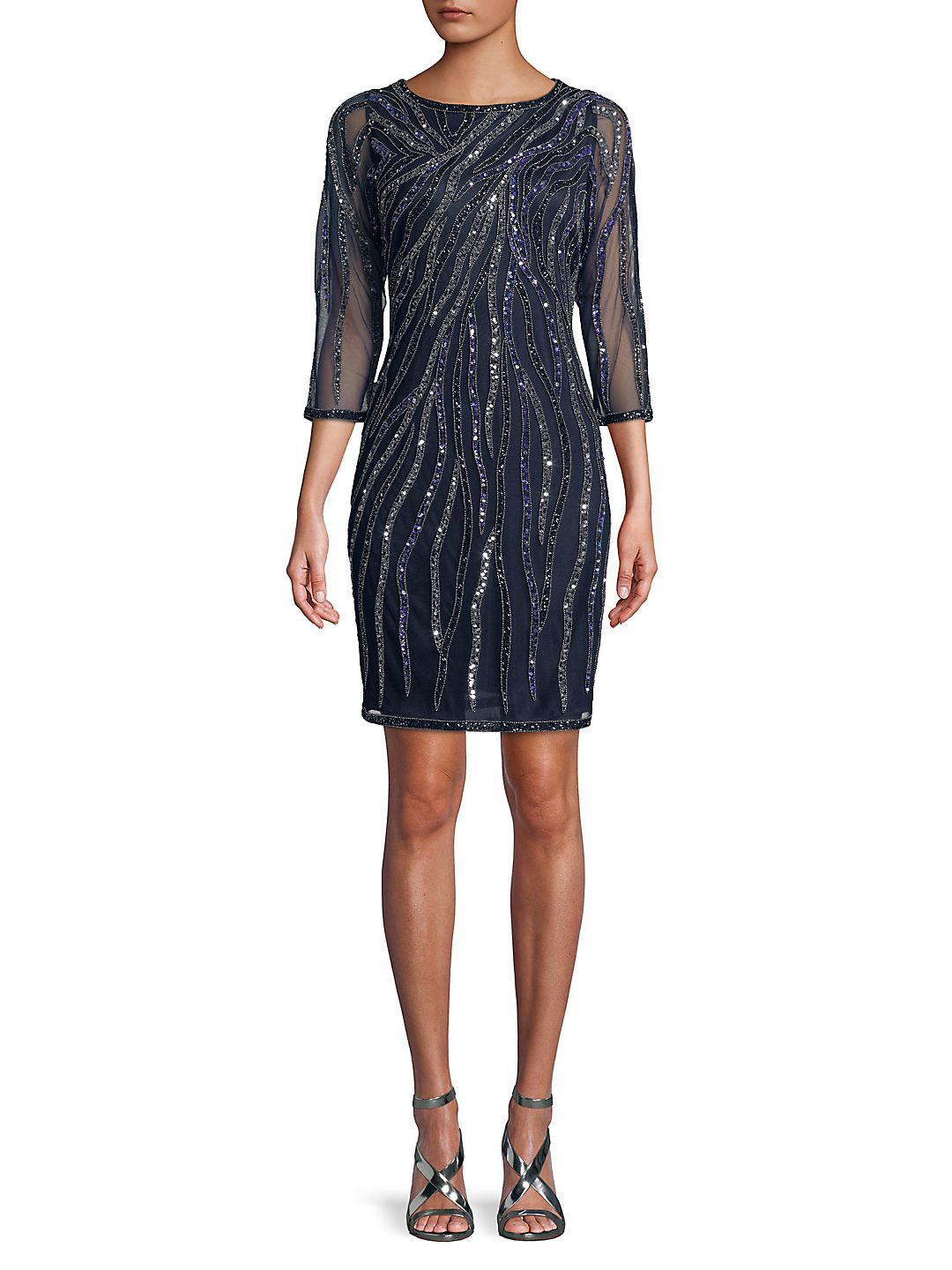 j kara sequined sheath dress walmart com