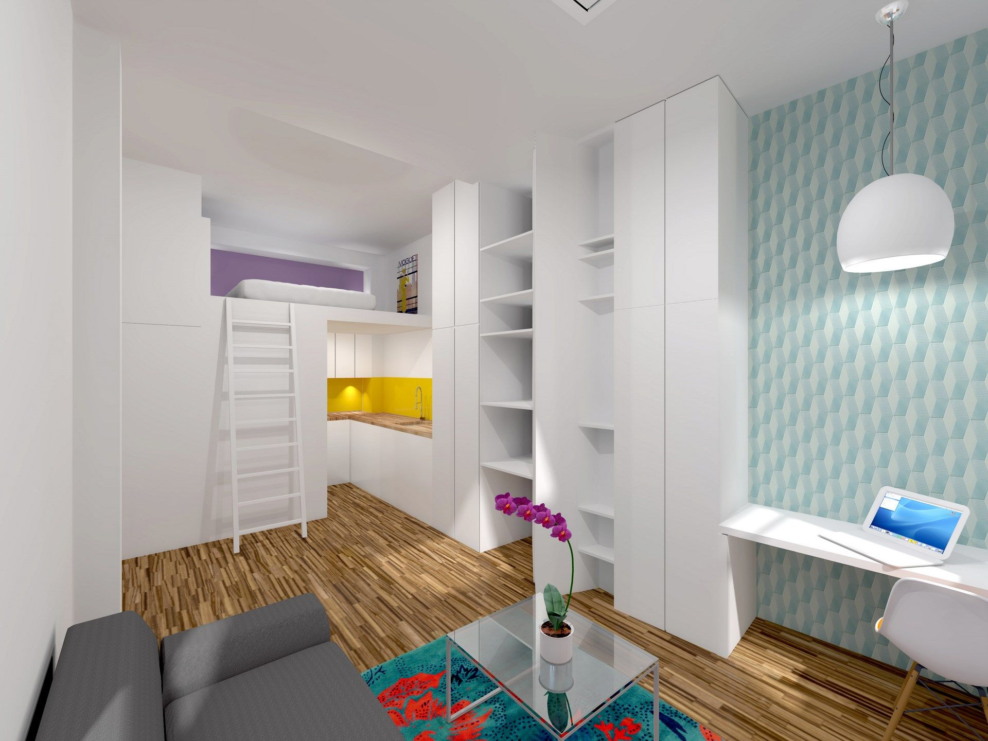 amenagement studio mezzanine dressing agence avous | Studio ...